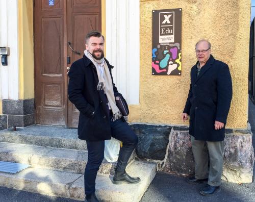 Santeri and me at xEdu